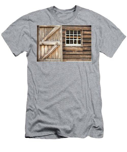 Wood Door And Window Men's T-Shirt (Athletic Fit)