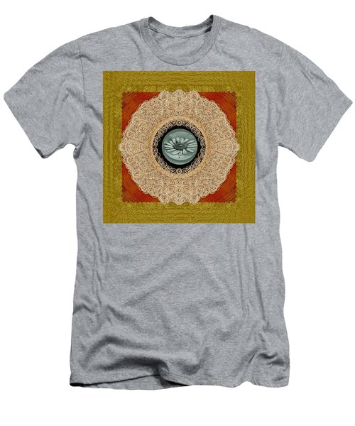 Wood Lace And Flowers Of Seed Popart Men's T-Shirt (Athletic Fit)