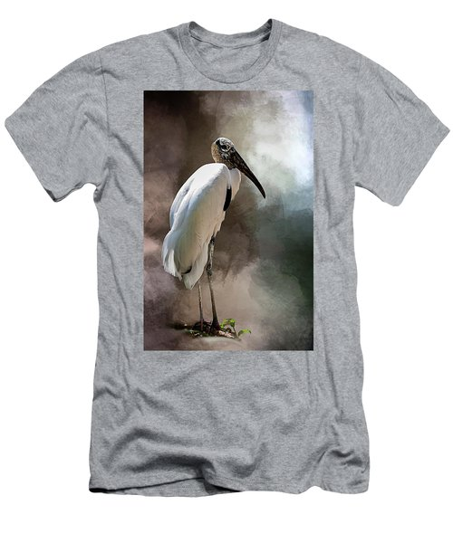 Wood Stork Men's T-Shirt (Slim Fit) by Cyndy Doty