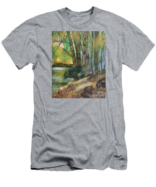 Woods In The Afternoon Men's T-Shirt (Slim Fit) by Robin Maria Pedrero
