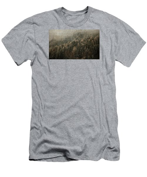 Woods In Winter Men's T-Shirt (Slim Fit) by Vittorio Chiampan