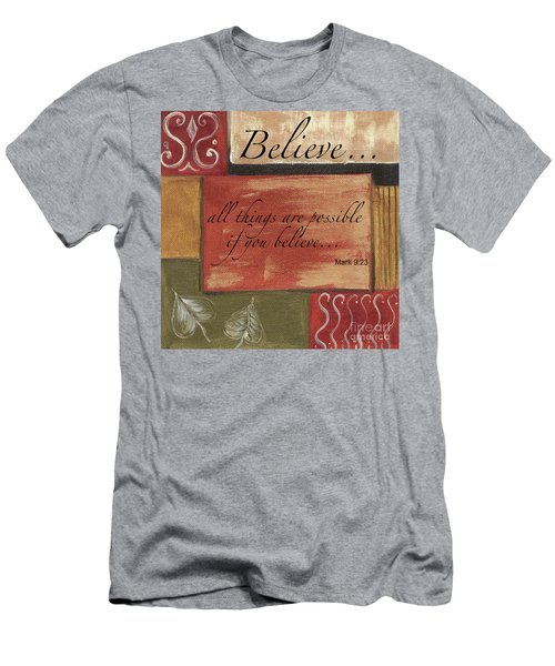 Words To Live By Believe Men's T-Shirt (Athletic Fit)