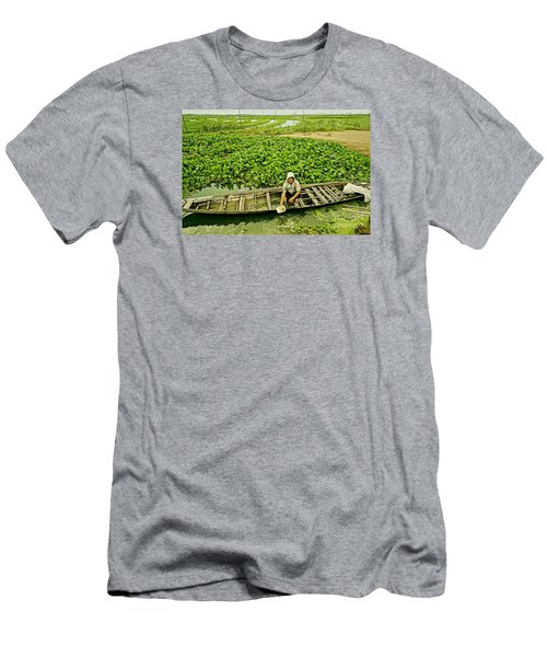 Men's T-Shirt (Slim Fit) featuring the photograph Work Hard With Smile by Arik S Mintorogo