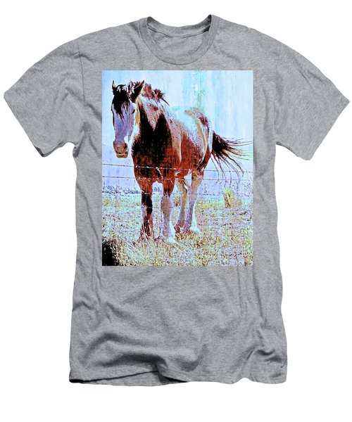 Men's T-Shirt (Slim Fit) featuring the photograph Workhorse by Cynthia Powell