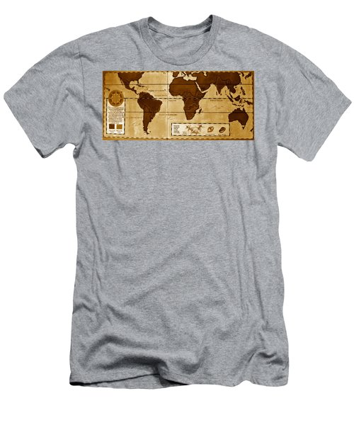 World Map Of Coffee Men's T-Shirt (Athletic Fit)