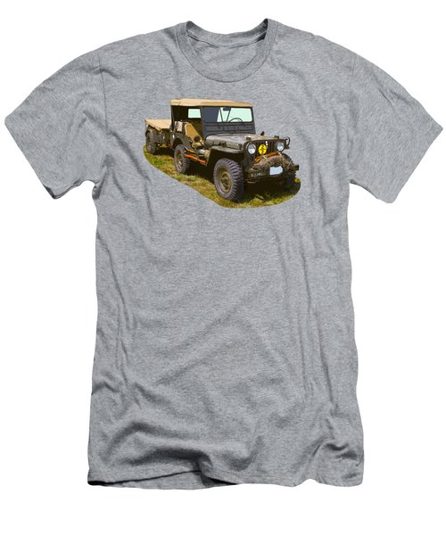 World War Two Army Jeep With Trailer  Men's T-Shirt (Athletic Fit)