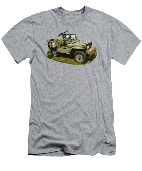 World War Two - Willys - Army Jeep  Men's T-Shirt (Slim Fit) by Keith Webber Jr