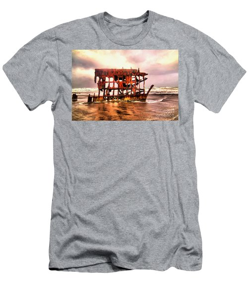 Wreck Of The Peter Iredale  Men's T-Shirt (Athletic Fit)