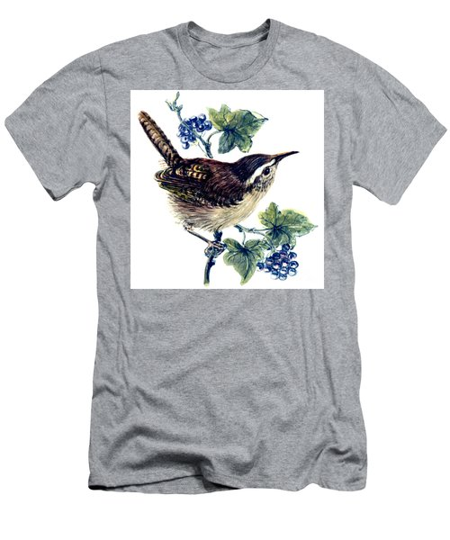 Wren In The Ivy Men's T-Shirt (Slim Fit) by Nell Hill