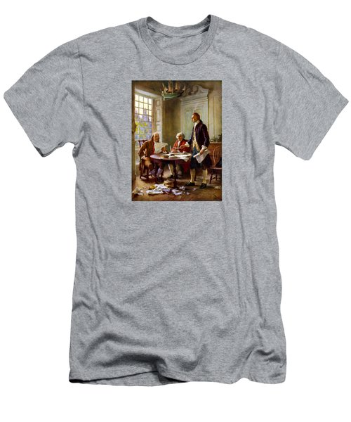 Writing The Declaration Of Independence Men's T-Shirt (Athletic Fit)