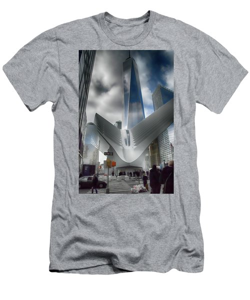Wtc Oculus - Freedom Tower Men's T-Shirt (Slim Fit) by Dyle Warren