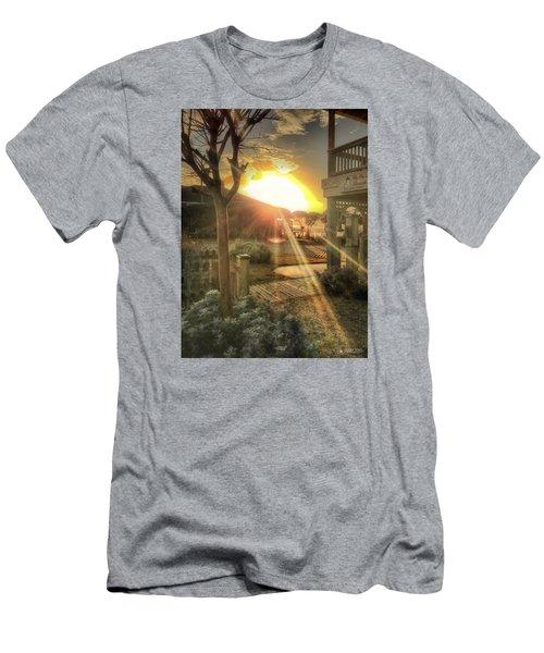 Men's T-Shirt (Slim Fit) featuring the photograph Wu Wu's Beach by Phil Mancuso