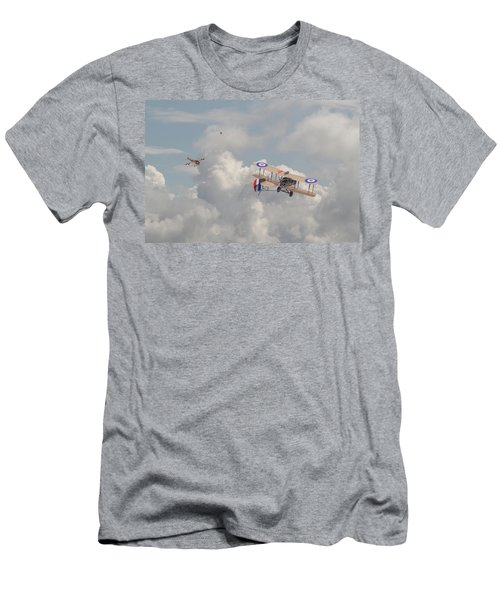 Men's T-Shirt (Slim Fit) featuring the photograph Ww1 - The Fokker Scourge - Eindecker by Pat Speirs