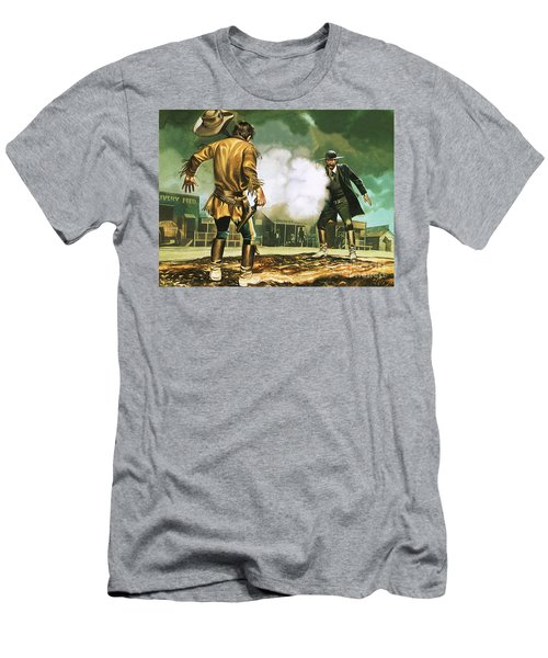 Wyatt Earp At Work In Dodge City Men's T-Shirt (Athletic Fit)