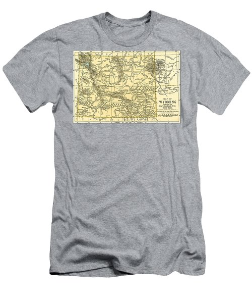 Wyoming Antique Map 1891 Men's T-Shirt (Athletic Fit)