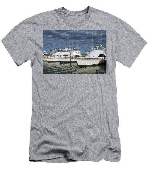 Yachts At The Dock Men's T-Shirt (Athletic Fit)
