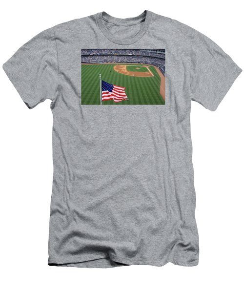 Yankee Stadium Flag Men's T-Shirt (Athletic Fit)