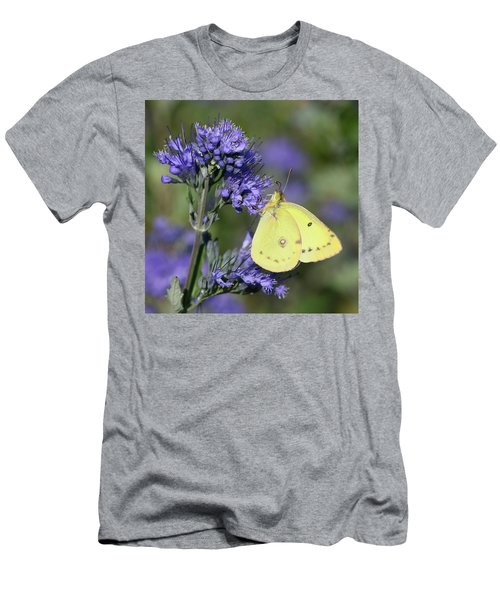 Yellow And Indigo Men's T-Shirt (Athletic Fit)