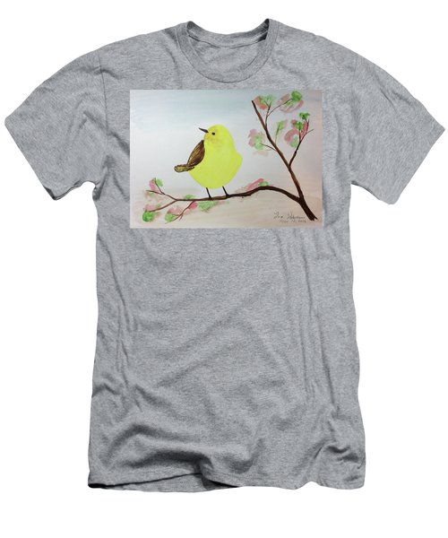 Yellow Chickadee On A Branch Men's T-Shirt (Athletic Fit)