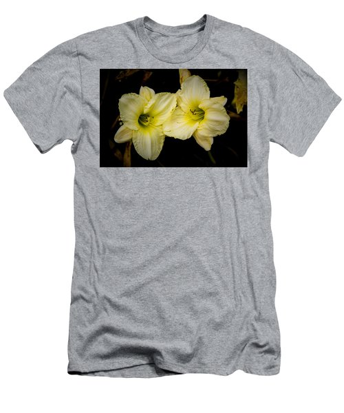 Yellow Day Lilies Men's T-Shirt (Athletic Fit)