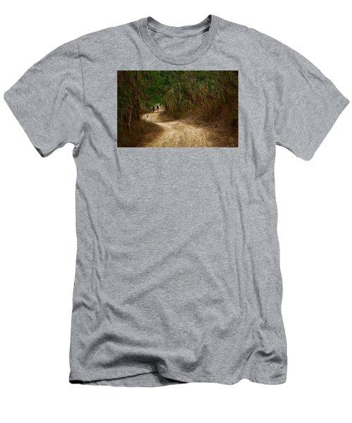 Yellow Dust Road Men's T-Shirt (Athletic Fit)