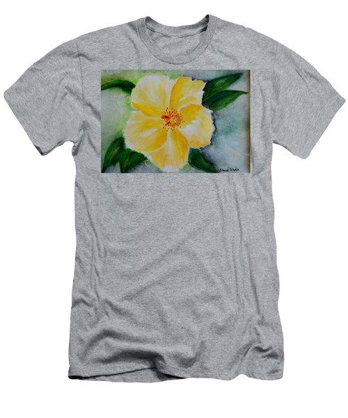 Yellow Hibiscus Men's T-Shirt (Slim Fit) by Jamie Frier