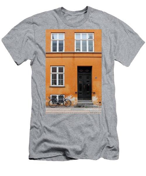 The Orange House Copenhagen Denmark Men's T-Shirt (Athletic Fit)