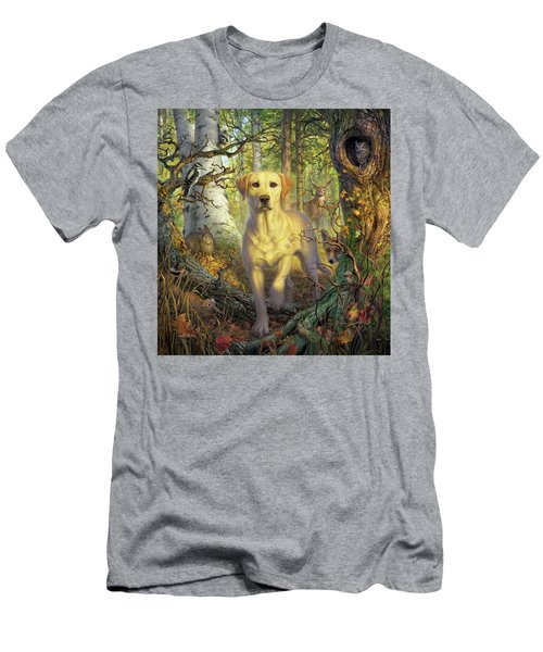 Yellow Lab In Fall Men's T-Shirt (Athletic Fit)