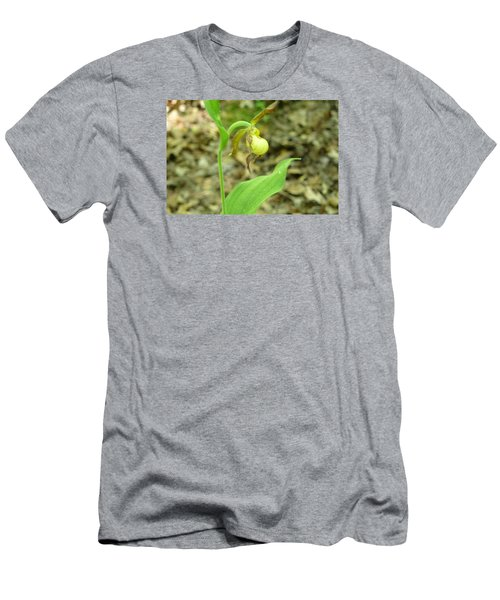 Men's T-Shirt (Slim Fit) featuring the photograph Yellow Lady-slipper by Linda Geiger