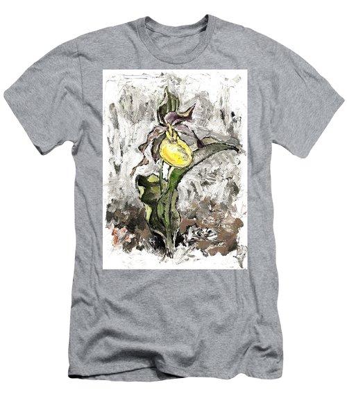 Yellow Lady's Slipper Men's T-Shirt (Athletic Fit)