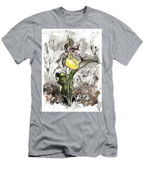 Yellow Lady's Slipper Men's T-Shirt (Athletic Fit)