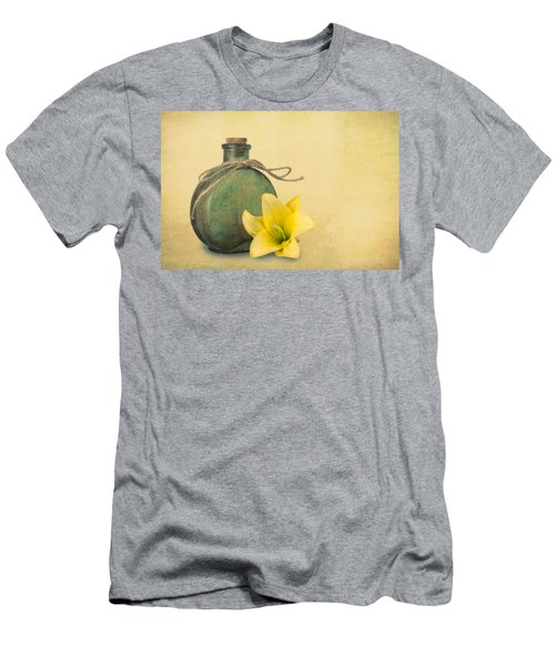 Yellow Lily And Green Bottle II Men's T-Shirt (Slim Fit) by Tom Mc Nemar