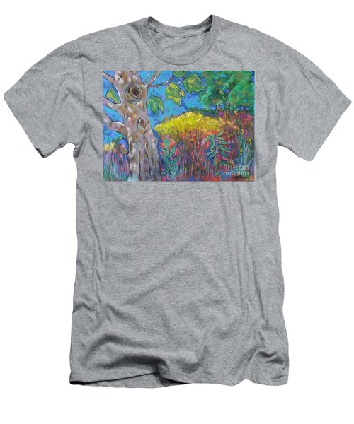 Yellow Meadow  Men's T-Shirt (Athletic Fit)
