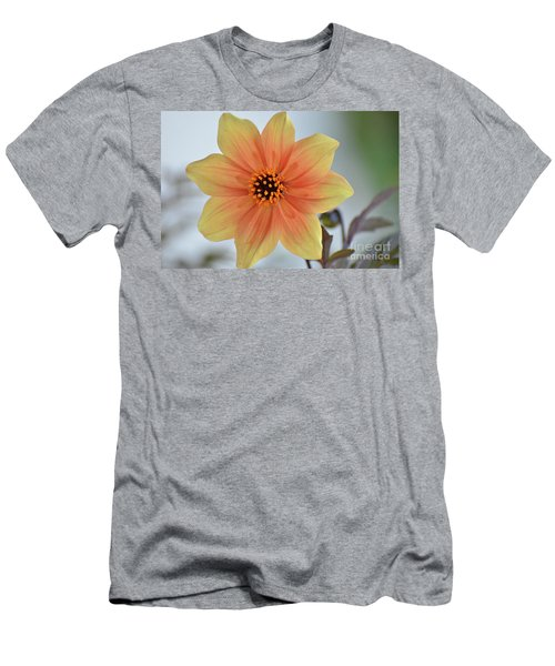 Yellow Orange Dahlia Perfection Men's T-Shirt (Athletic Fit)