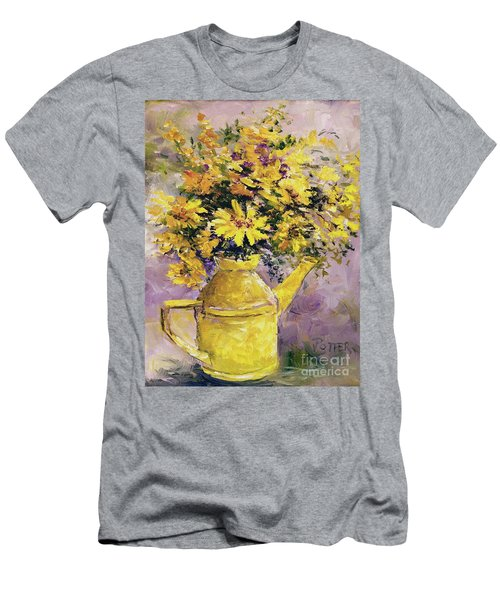 Yellow Pot Of Sunshine Men's T-Shirt (Athletic Fit)
