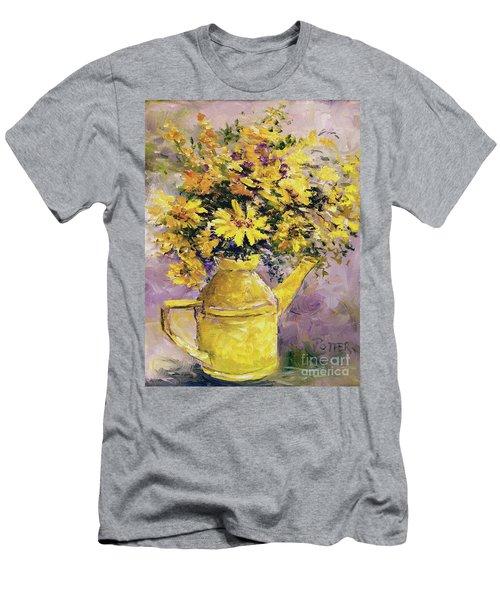 Yellow Pot Of Sunshine Men's T-Shirt (Athletic Fit)