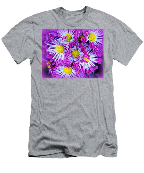 Yellow Purple And White Men's T-Shirt (Athletic Fit)
