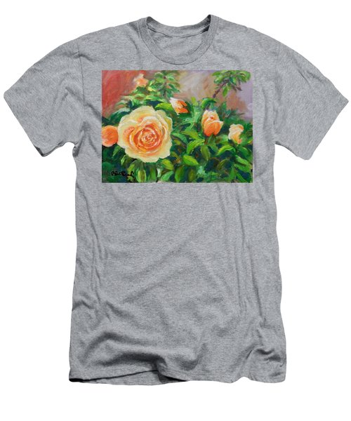 Yellow Roses Men's T-Shirt (Slim Fit) by William Reed