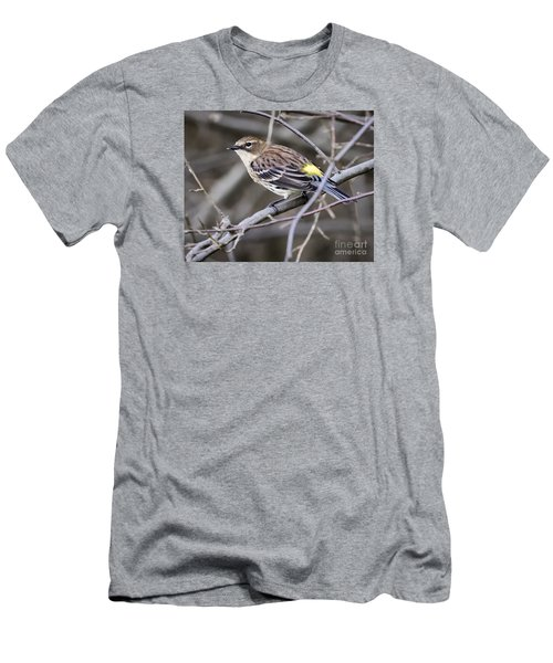 Men's T-Shirt (Slim Fit) featuring the photograph Yellow-rumped Warber In Fall Colors by Ricky L Jones