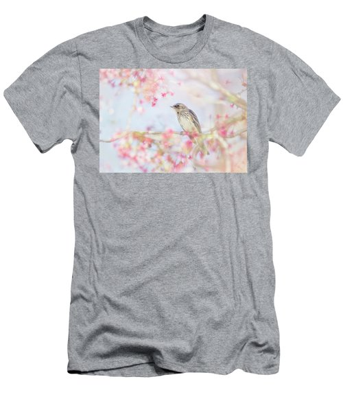 Yellow-rumped Warbler In Spring Blossoms Men's T-Shirt (Athletic Fit)
