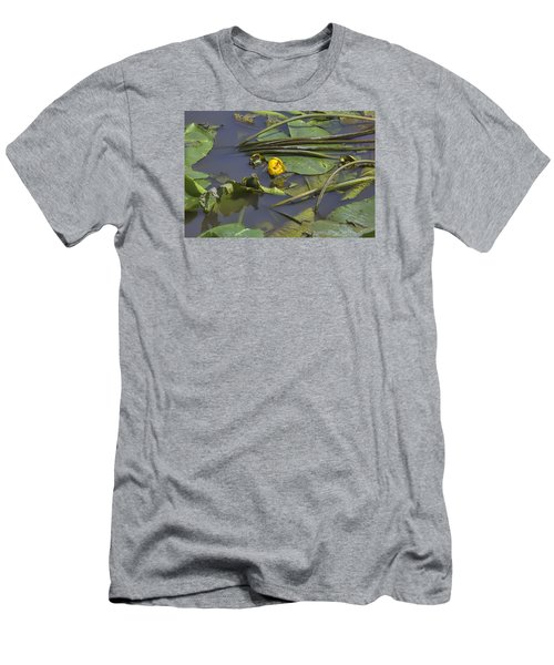 Men's T-Shirt (Slim Fit) featuring the photograph Yellow Waterlilly 2015 by Leif Sohlman