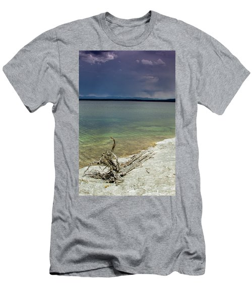 Yellowstone Lake Men's T-Shirt (Slim Fit) by Dawn Romine