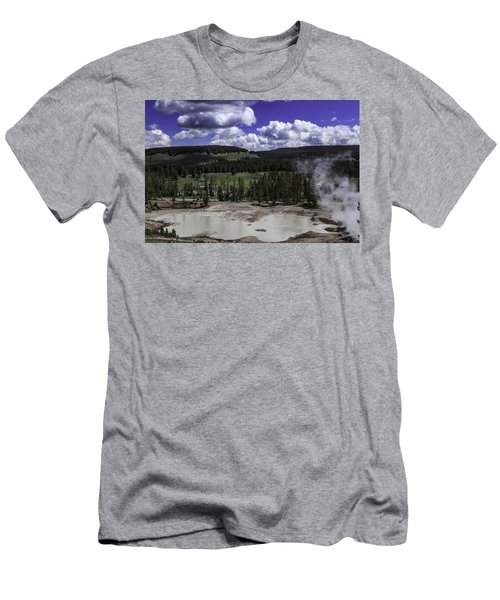 Men's T-Shirt (Slim Fit) featuring the photograph Yellowstone Tar Pits by Jason Moynihan