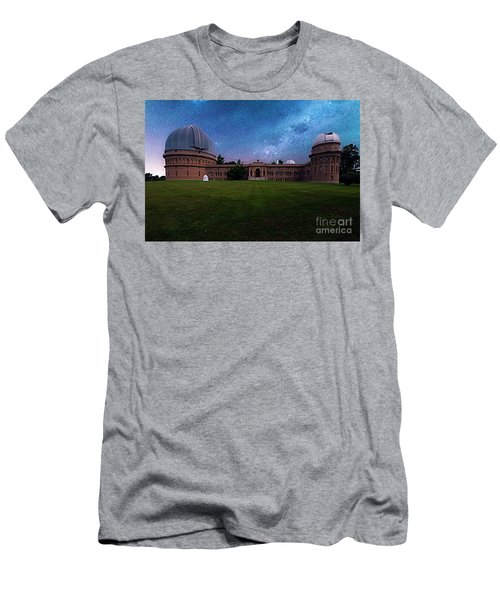 Men's T-Shirt (Athletic Fit) featuring the photograph Yerkes Observatory Williams Bay by Tom Jelen