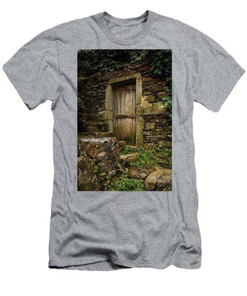 Men's T-Shirt (Slim Fit) featuring the photograph Yesterday's Garden Door by Kathleen Scanlan