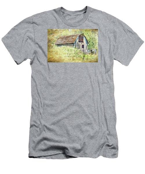 Men's T-Shirt (Slim Fit) featuring the photograph Yesteryear Barn by Jean OKeeffe Macro Abundance Art