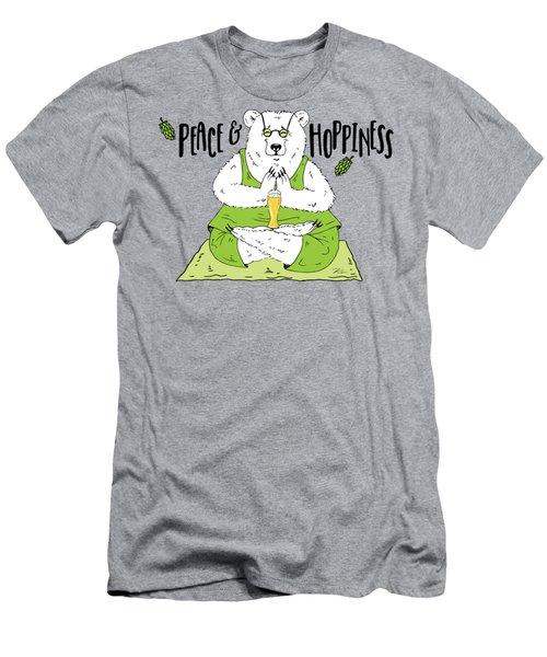 Yoga Beer Bear Men's T-Shirt (Athletic Fit)