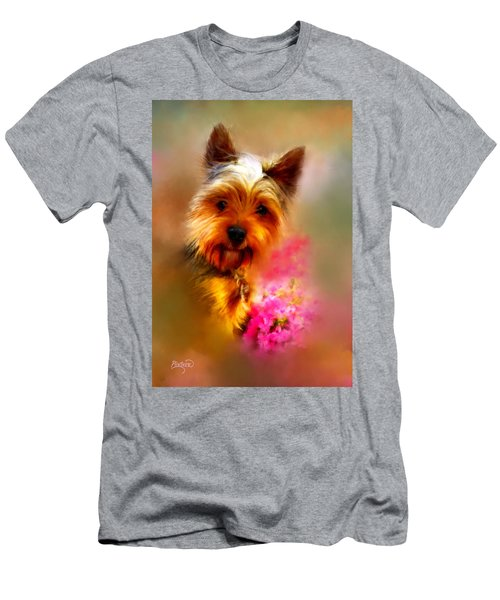 Yorkie Portrait Men's T-Shirt (Athletic Fit)