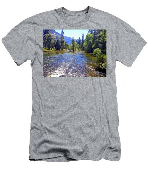 Yosemite River At Ease Men's T-Shirt (Athletic Fit)