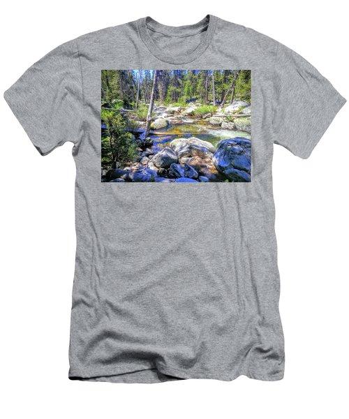 Yosemite Boulder Stream Men's T-Shirt (Athletic Fit)